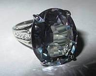 """Элегантный перстень с александритами и сапфирами """"Красивый"""", размер 17.4 от студии LadyStyle.Biz"""