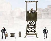 Караульная вышка, Военный набор с солдатиками, M&C Toy