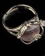 """Кольцо с аметистом """"Цветок"""" размер 17,5.  www.LadyStyle.Biz, фото 1"""