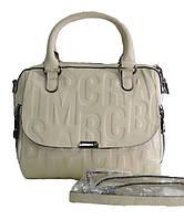 Брендовая женская сумка из натуральной кожи средняя
