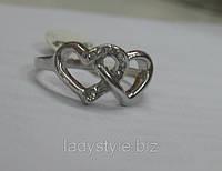 "Кольцо ""Сердечки"" размер 19 от Студии  www.LadyStyle.Biz, фото 1"