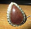 Крупное кольцо с натуральным кальцитом 19,2 размер от Студии  www.LadyStyle.Biz