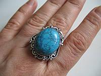 Крупные кольца с бирюзой, размер  18 от Студии  www.LadyStyle.Biz, фото 1