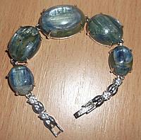 """Шикарный браслет с натуральным кианитом """"Жозефина"""" от студии  LadyStyle.Biz"""