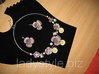 Летние красивые наборы ТРОПИКАНА (серьги+колье) на выбор от Студии  www.LadyStyle.Biz