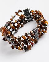Украшение на шею-браслет из гематита с  тигровым глазом от Студии  www.LadyStyle.Biz, фото 1