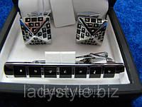 """Необычный   набор """"Пирамида Хеопса"""" (запонки и зажим для галстука) от Студии  www.LadyStyle.Biz"""