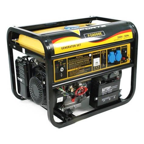 Бензиновый генератор FORTE FG8000E ( 6,0 кВт), фото 2