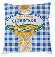 "Сметана ""Селянська"" 15% 400г"