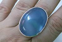 """Красивый перстень""""Болеро""""размер 19,6 с крупным голубым халцедоном от студии  LadyStyle.Biz, фото 1"""