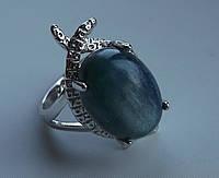 """Кольцо с кианитом """"Афина"""", размер 17 от студии LadyStyle.Biz"""