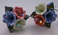 Серьги-гвоздики из полимерной глины № 1 с эмалью от Студии  www.LadyStyle.Biz, фото 1