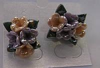 Серьги-гвоздики из полимерной глины № 7 с эмалью от Студии  www.LadyStyle.Biz, фото 1