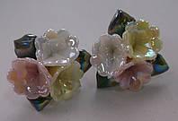 Серьги-гвоздики из полимерной глины № 3 с эмалью от Студии  www.LadyStyle.Biz, фото 1