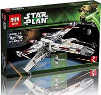 """Конструктор Lepin 05039 Истребитель типа X-Wing """"Ред Файв"""" - аналог лего 10240 Star Wars, 1586 дет."""
