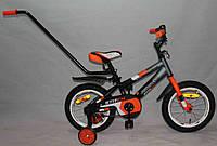 """Детский двухколесный велосипед Azimut Stitch А 14"""" оранжевый***"""