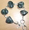 Серебряной браслет с темным агатом от LadyStyle.Biz