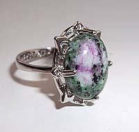 """Яркое кольцо с цеизитом """"Лотос"""" размер  18,9 от студии LadyStyle.Biz"""