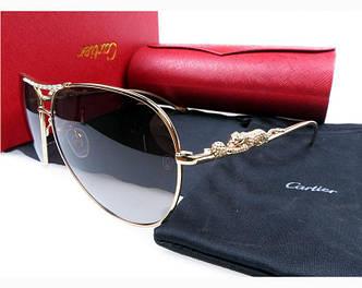 Солнцезащитные очки Cartier 205 gold SR-529
