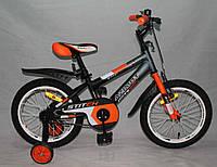 """Велосипед двухколёсный Azimut Stitch А 16"""" дюймов оранжевый***"""