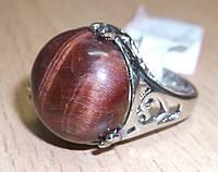 """Потрясающее кольцо с бычьим глазом """"Джимми"""", размер 17 от Студии  www.LadyStyle.Biz"""