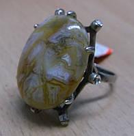 """Кольцо с золотистым агатом """"Кассандра"""", размер 17,9 от Студии LadyStyle.Biz, фото 1"""