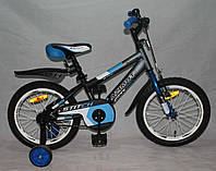 """Велосипед двухколёсный Azimut Stitch А 16"""" дюймов синий***"""