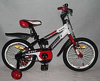 """Велосипед двухколёсный Azimut Stitch А 16"""" дюймов красный***"""
