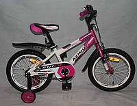 """Велосипед двухколёсный Azimut Stitch А 16"""" дюймов розовый***"""
