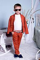 """Костюм """"Лен"""" брюки + пиджак (3 цвета) подростковые размеры"""