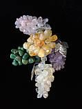 Декоративний Виноград з натурального каменю 8 див., Цитрин (S), фото 2