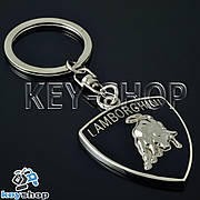 Металлический брелок для авто ключей Lamborghini (Ламборджини)