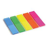 Закладки Axent 2440-01-A прямоугольные, пластиковые 5х12х50 мм, 125 шт