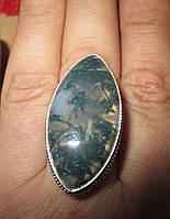 """Красивое кольцо """"Лесная фантазия"""" с натуральным моховым агатом, размер 17,8 от студии LadyStyle.Biz, фото 1"""