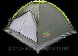 1012 GREENCAMP Палатка трехместная