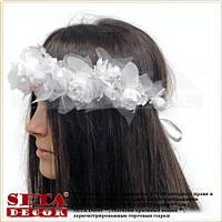 Веночек на голову Невеста белый