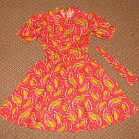 Летнее платье, хлопок на 10 лет