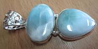 """Симпатичный серебряный кулон """"Небесный"""" с ларимаром  от студии LadyStyle.Biz, фото 1"""