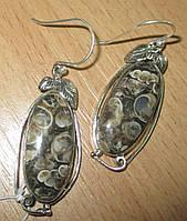 """Серебряные серьги с турителлой  """"Баклажан""""  от студии LadyStyle.Biz, фото 1"""