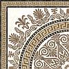 40х40 Керамічна плитка підлогу декор Meander візерунок бежевий