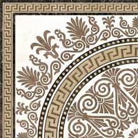 40х40 Керамическая плитка пол декор Meander узор бежевый