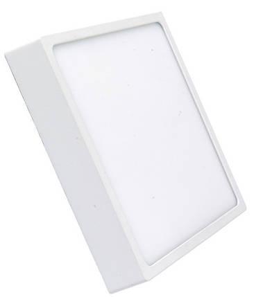 Светодиодный cветильник накладной Slim RIGHT HAUSEN 12W 4000K квадратный белый  Код.57583, фото 2