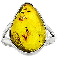 """Серебряный перстень   с натуральным янтарем """"Эра"""", размер 17,9 от студии  LadyStyle.Biz, фото 1"""