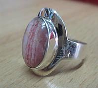 Серебряное кольцо с родохрозитом , размер 20  от студии LadyStyle.Biz