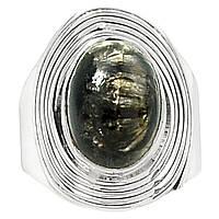Серебряный перстень  с золотистым серафинитом  , размер 18,6 от студии LadyStyle.Biz, фото 1