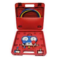 Манометрический коллектор  для заправки фреона R134a HESHITOOLS HS-C1051A (Китай)