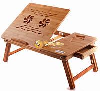 Бамбуковый столик для ноутбука NT26, фото 1