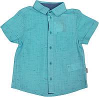 Рубашка льняная с коротким рукавом на мальчика ТМ Бемби  РБ78 размер 104 110 128 134