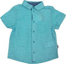 Рубашка льняная с коротким рукавом на мальчика ТМ Бемби  РБ78 размер 104 110 128