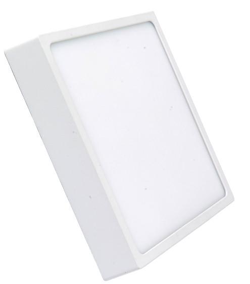 Светодиодный cветильник накладной Slim RIGHT HAUSEN 6W 4000K квадратный белый Код.57584